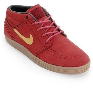 Nike SB Lunar Stefan Janoski Mid Shoe Red